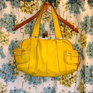 Michael Kors mustard shoulder bag